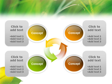 Yellow Leaf In Green Grass PowerPoint Template Slide 9