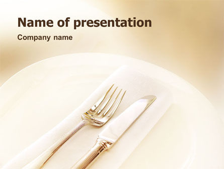Table Appointments PowerPoint Template, 01529, Careers/Industry — PoweredTemplate.com