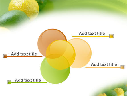 Green And Yellow Lemons In Line PowerPoint Template Slide 10