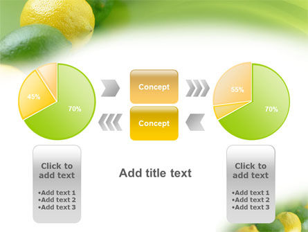 Green And Yellow Lemons In Line PowerPoint Template Slide 11