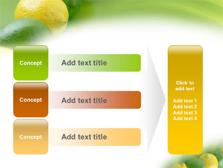 Green And Yellow Lemons In Line PowerPoint Template Slide 12