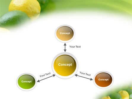 Green And Yellow Lemons In Line PowerPoint Template Slide 14