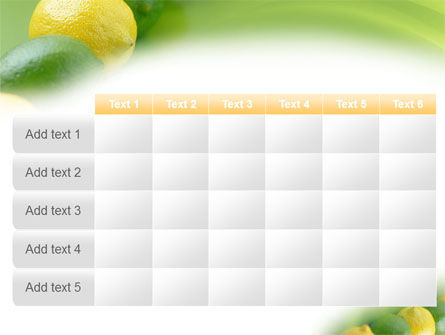 Green And Yellow Lemons In Line PowerPoint Template Slide 15