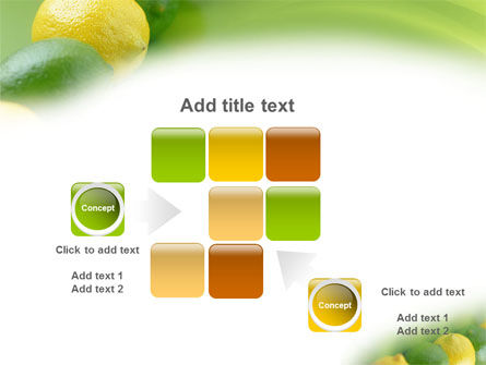Green And Yellow Lemons In Line PowerPoint Template Slide 16