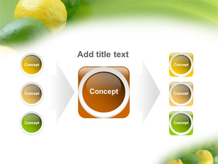 Green And Yellow Lemons In Line PowerPoint Template Slide 17