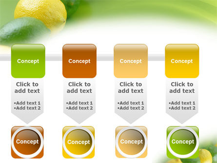 Green And Yellow Lemons In Line PowerPoint Template Slide 18