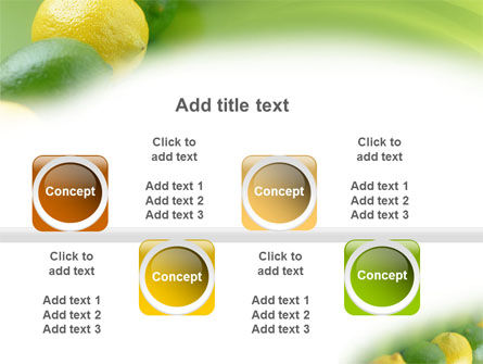 Green And Yellow Lemons In Line PowerPoint Template Slide 19