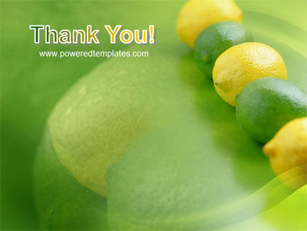 Green And Yellow Lemons In Line PowerPoint Template Slide 20