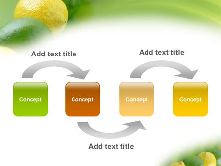 Green And Yellow Lemons In Line PowerPoint Template, Slide 4, 01532, Food & Beverage — PoweredTemplate.com