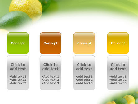 Green And Yellow Lemons In Line PowerPoint Template Slide 5