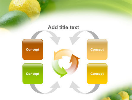 Green And Yellow Lemons In Line PowerPoint Template Slide 6