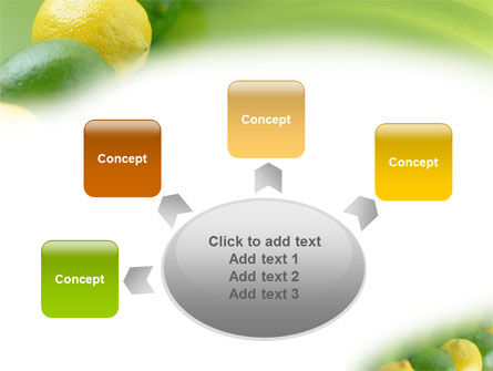 Green And Yellow Lemons In Line PowerPoint Template Slide 7