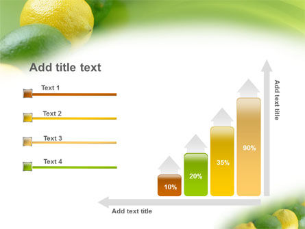 Green And Yellow Lemons In Line PowerPoint Template Slide 8