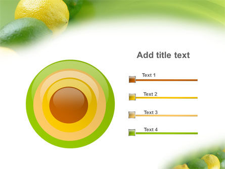 Green And Yellow Lemons In Line PowerPoint Template Slide 9