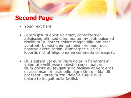 Light Drink PowerPoint Template Slide 2