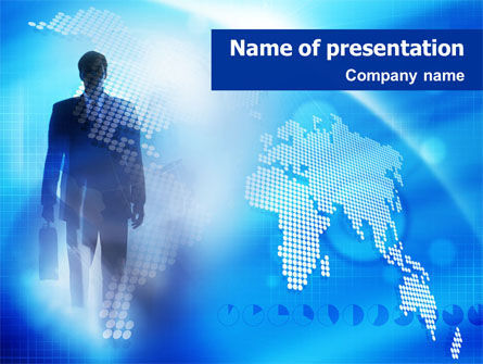 Businessman PowerPoint Template, 01534, Global — PoweredTemplate.com