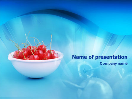 Food & Beverage: Bowl Full Of Cherries PowerPoint Template #01538