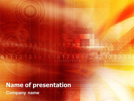 Numbers PowerPoint Template, 01539, Abstract/Textures — PoweredTemplate.com