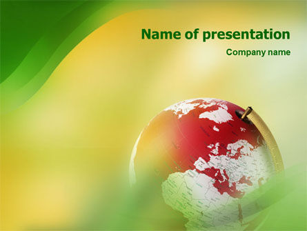 Terrestrial Globe PowerPoint Template, 01541, Global — PoweredTemplate.com