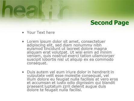 Health PowerPoint Template, Slide 2, 01545, Medical — PoweredTemplate.com