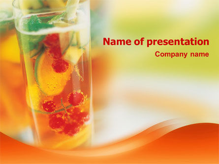 Fruit Cocktail PowerPoint Template, 01547, Food & Beverage — PoweredTemplate.com