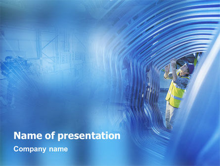 Engineering PowerPoint Template, 01548, Utilities/Industrial — PoweredTemplate.com