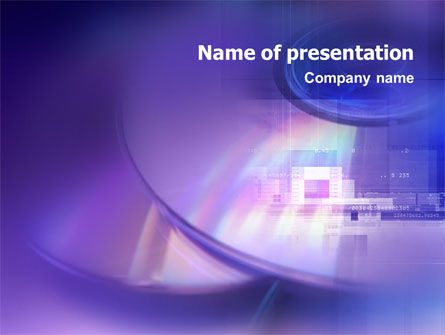 Technology and Science: Compact Disc Storages PowerPoint Template #01551