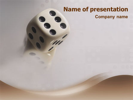 Business Concepts: Dice PowerPoint Template #01552