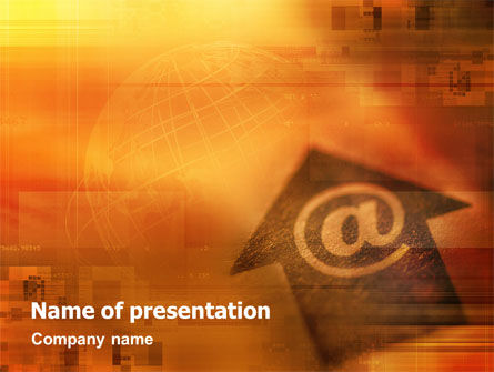 Interactive World PowerPoint Template, 01554, Telecommunication — PoweredTemplate.com