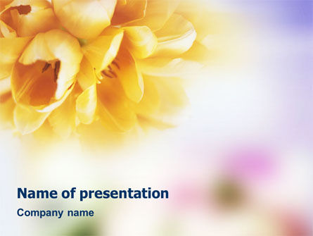 Bouquet PowerPoint Template, 01557, Nature & Environment — PoweredTemplate.com