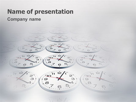 Business: Tijd Controle PowerPoint Template #01558