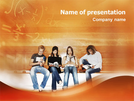 Education & Training: Students Who Read PowerPoint Template #01559