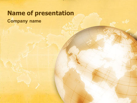Global: Globe On The Pastel Background PowerPoint Template #01561