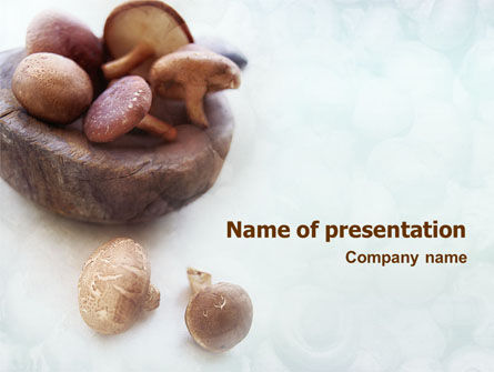 Mushroom Free PowerPoint Template, 01562, Food & Beverage — PoweredTemplate.com