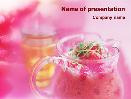 Raspberry Milk Shake PowerPoint Template