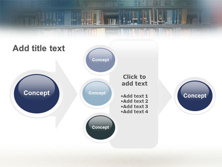 School Girl In The Library PowerPoint Template Slide 17