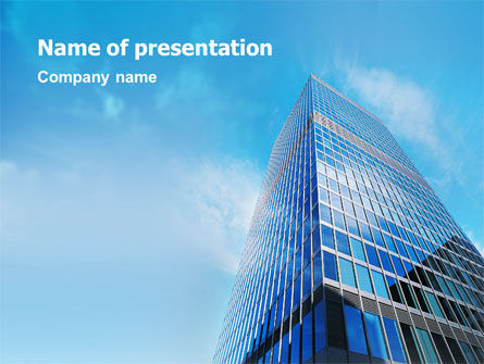 Business: Shining Skyscraper PowerPoint Template #01568