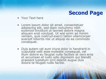 Shining Skyscraper PowerPoint Template, Slide 2, 01568, Business — PoweredTemplate.com