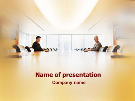 Conference Hall Negotiation PowerPoint Template, 01569, Business Concepts — PoweredTemplate.com