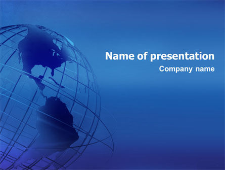 Global: Globe Model PowerPoint Template #01571