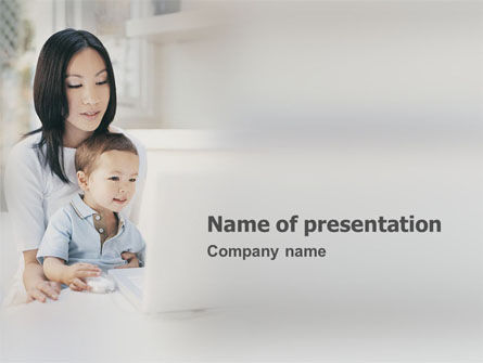 Education & Training: Primary Computer Education PowerPoint Template #01573