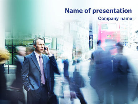 Business: Business Conversation PowerPoint Template #01574
