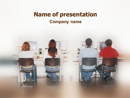 Education & Training: Computer Classroom PowerPoint Template #01576