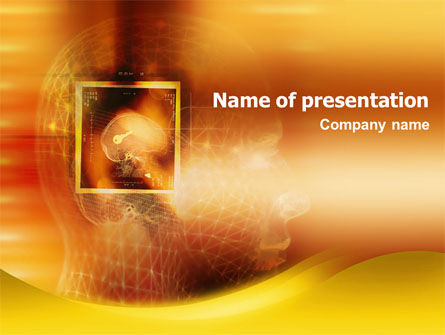 Cerebral Physiology PowerPoint Template, 01578, Technology and Science — PoweredTemplate.com