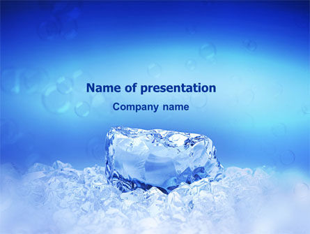 Ice PowerPoint Template, 01581, Nature & Environment — PoweredTemplate.com