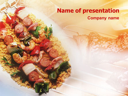 Grill PowerPoint Template, 01582, Food & Beverage — PoweredTemplate.com