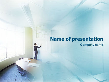 Training In A Blue Room PowerPoint Template