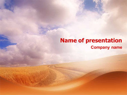Agriculture: Fields of Gold PowerPoint Template #01584