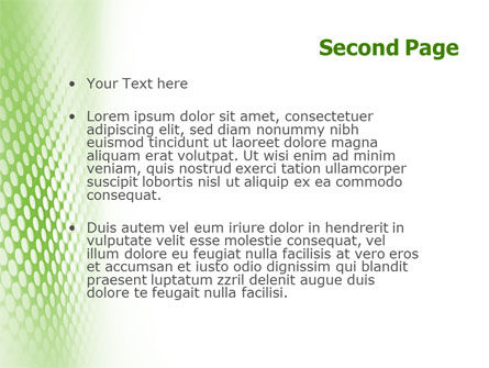 Green Grid PowerPoint Template Slide 2