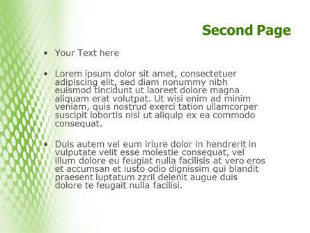 Green Grid PowerPoint Template, Slide 2, 01585, Abstract/Textures — PoweredTemplate.com